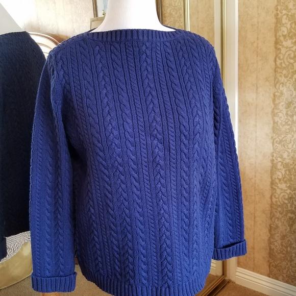 Lauren by Ralph Lauren ~ Fold Over Cardigan Women/'s Sweater $189 NWT